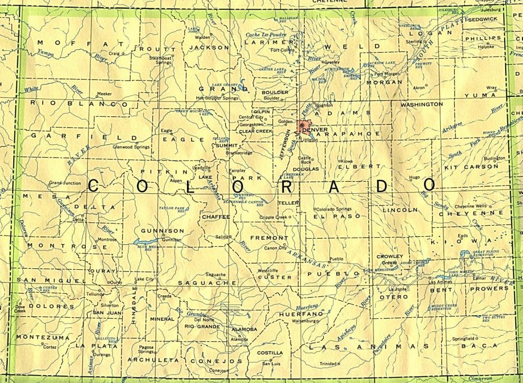 Colorado Maps - Perry-Castañeda Map Collection - Ut Library Online - Printable Map Of Colorado