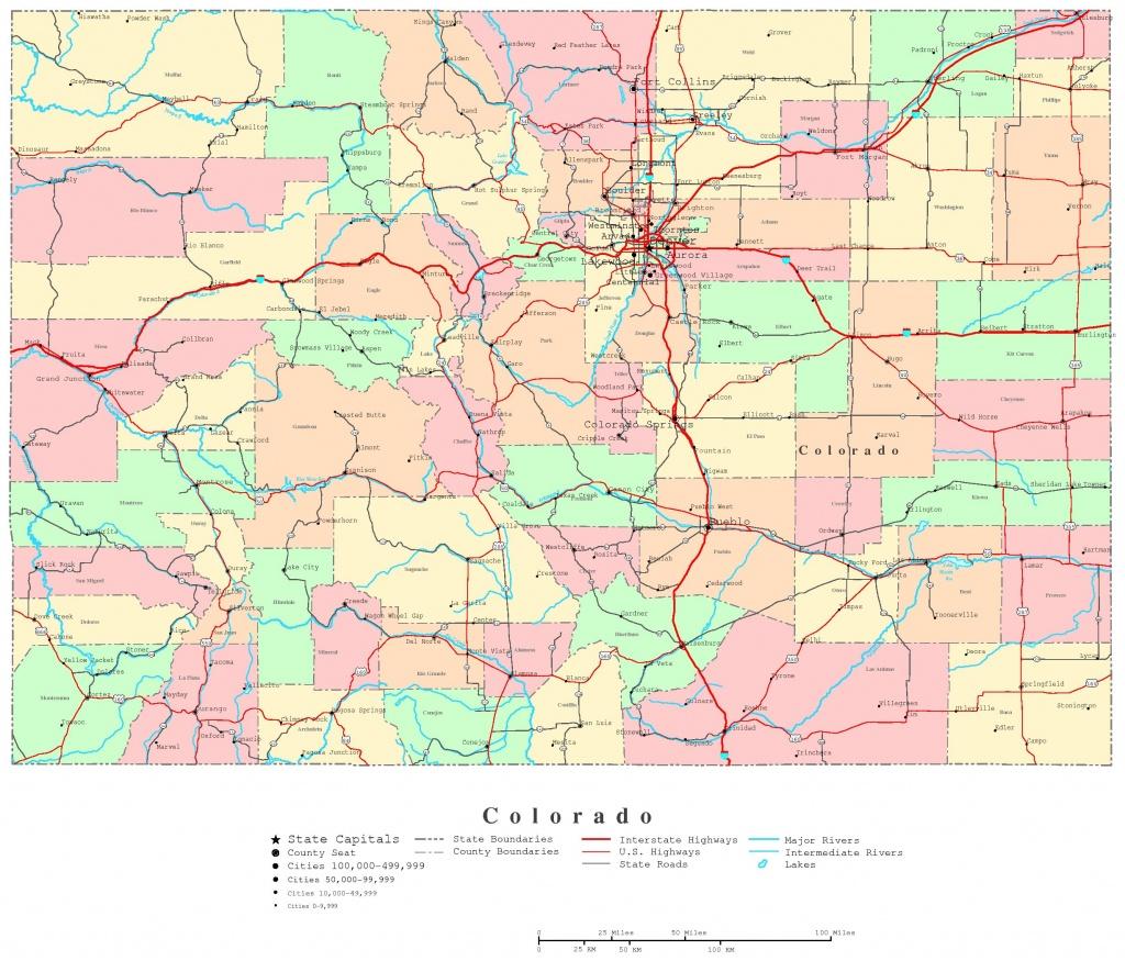 Colorado Printable Map - Printable Map Of Colorado