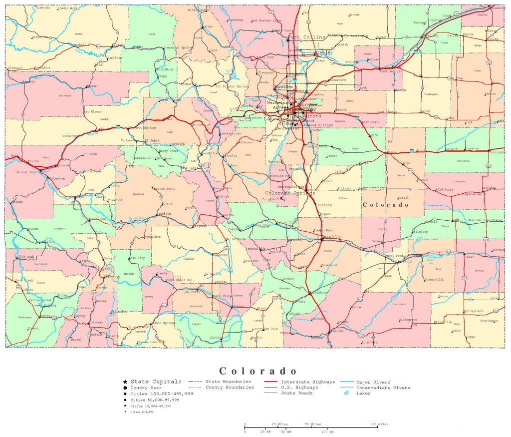 Colorado Printable Map - Printable Road Maps