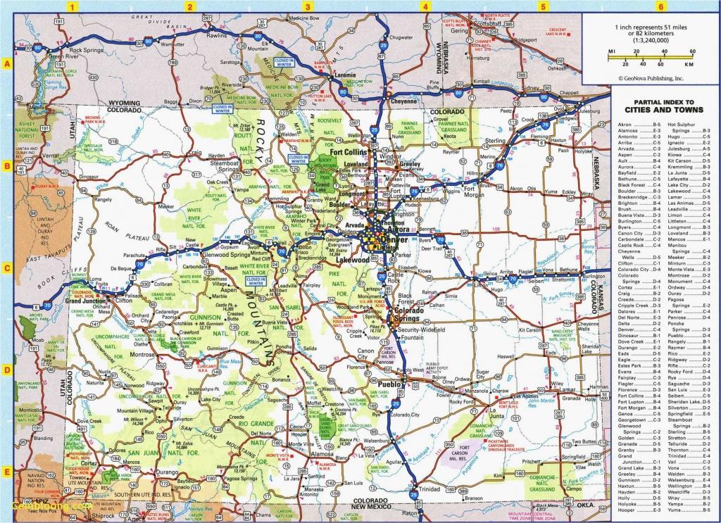 Colorado Road Map Printable | Secretmuseum - Printable Road Map Of Colorado