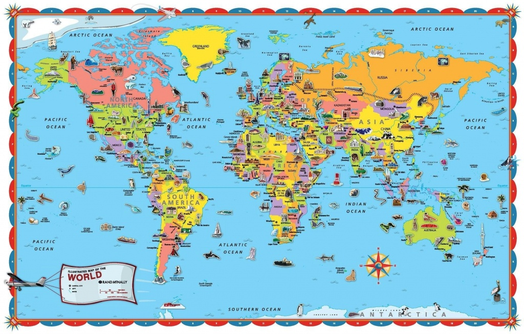 Coloring ~ Free Printable World Map For Kids Within Roundtripticket - World Map Poster Printable