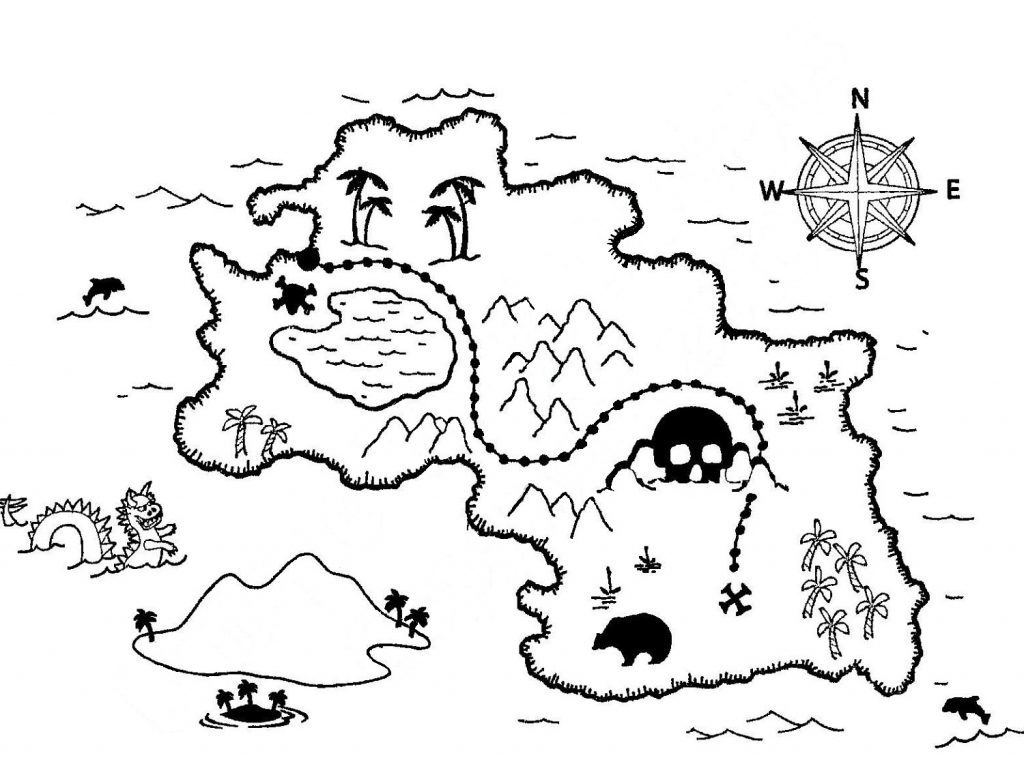 Coloring ~ Inspiration Coloring Pirateure Map Page Getcoloringpages - Printable Treasure Map Coloring Page