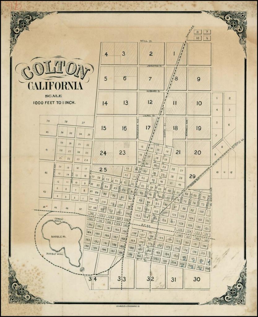 Colton, California [Including Manuscript Annotations -- Earp Family - Earp California Map