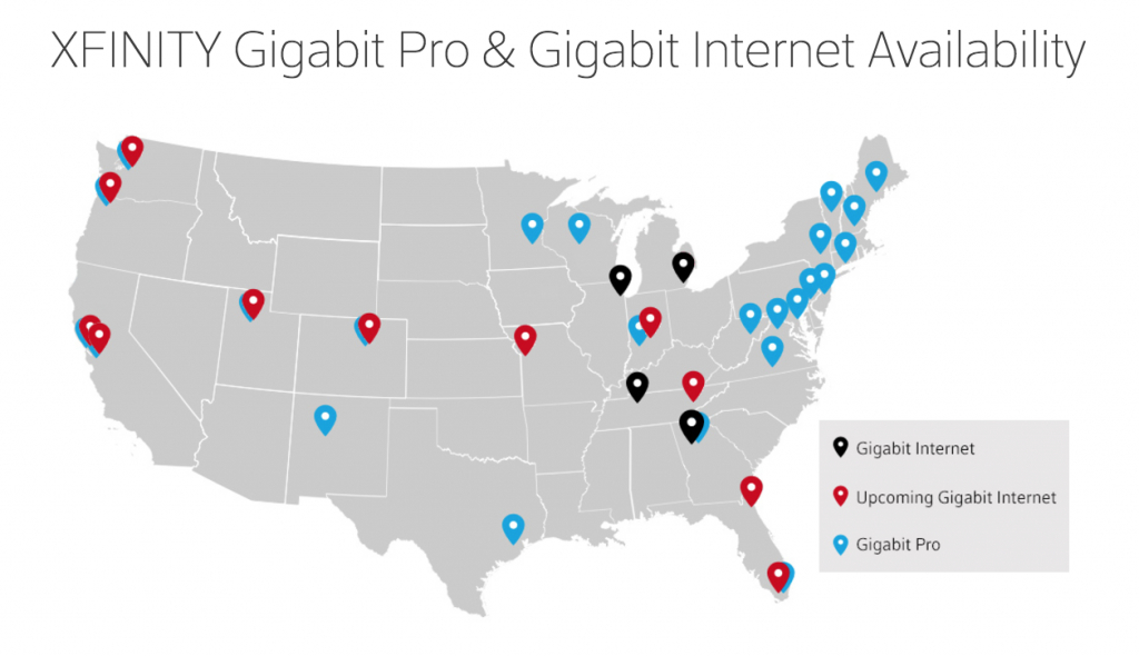Comcast's Gigabit Cable Will Be In 15 Citiesearly 2017 | Ars - Comcast Coverage Map Texas