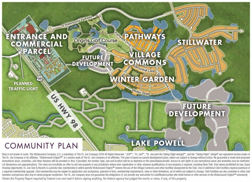 Community Maps - Watersound Origins - Beaches Of South Walton - Watersound Beach Florida Map