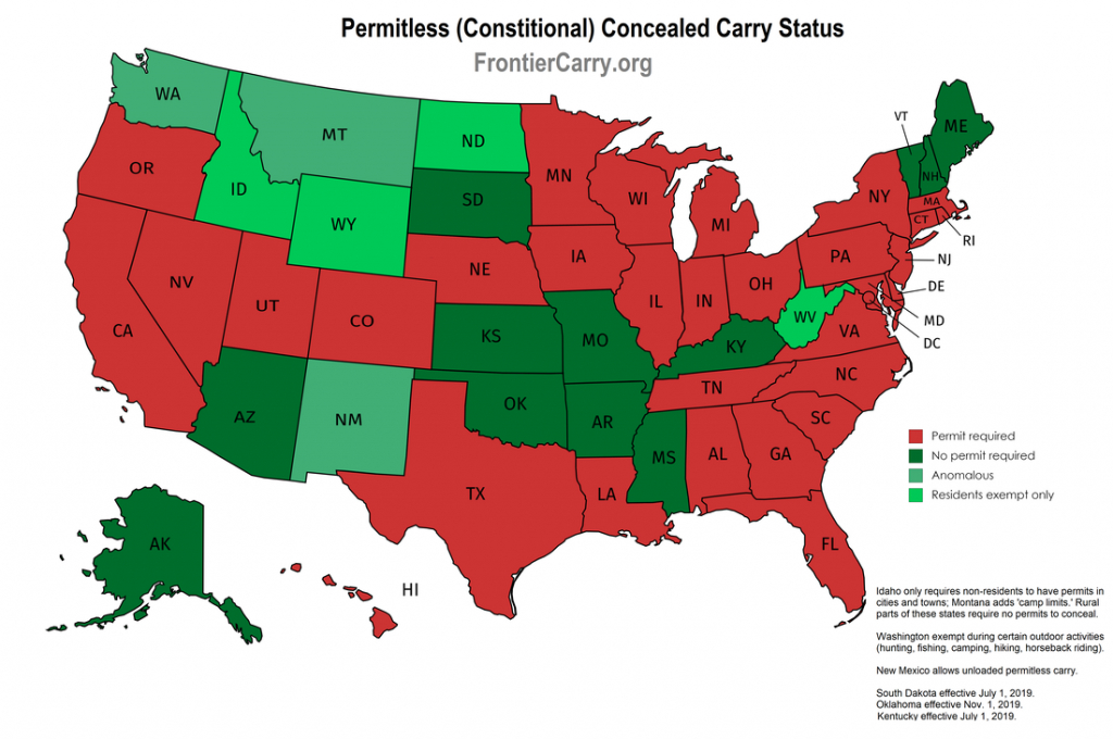 Concealed Carry - Nevada Carry - Texas Chl Reciprocity Map 2017