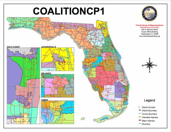 Florida Voting Districts Map