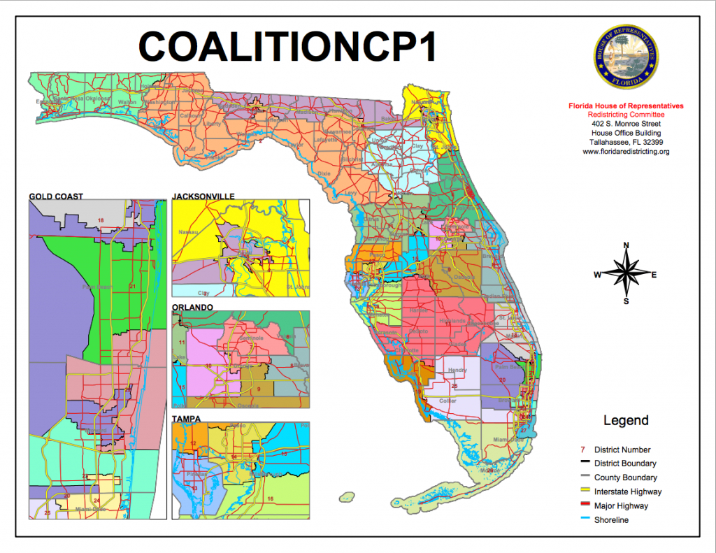 Congressional Districts Drawnvoting-Rights Groups Go To Florida - Florida Voting Districts Map