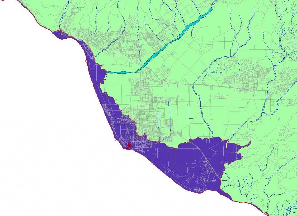 Conservation: Global Warming (Cnps-Ci) - California Sea Level Rise Map