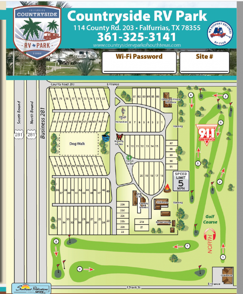 Contact - Countryside Rv Park Of South Texas - South Texas Rv Parks Map