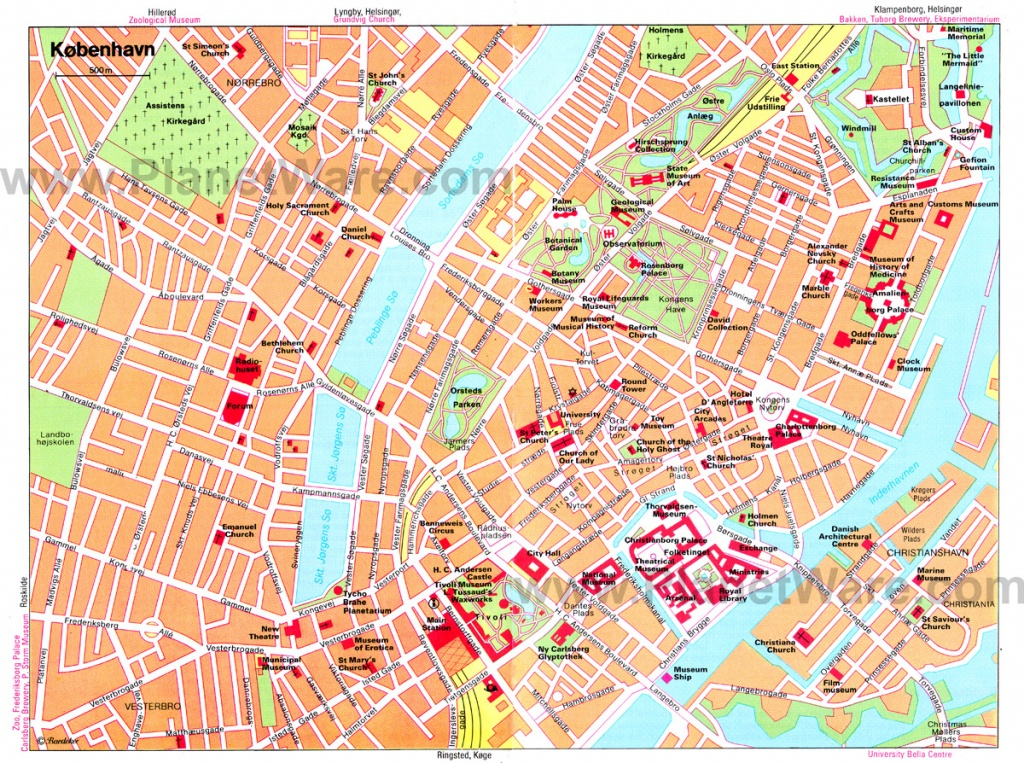 Copenhagen Map - Detailed City And Metro Maps Of Copenhagen For - Copenhagen Tourist Map Printable