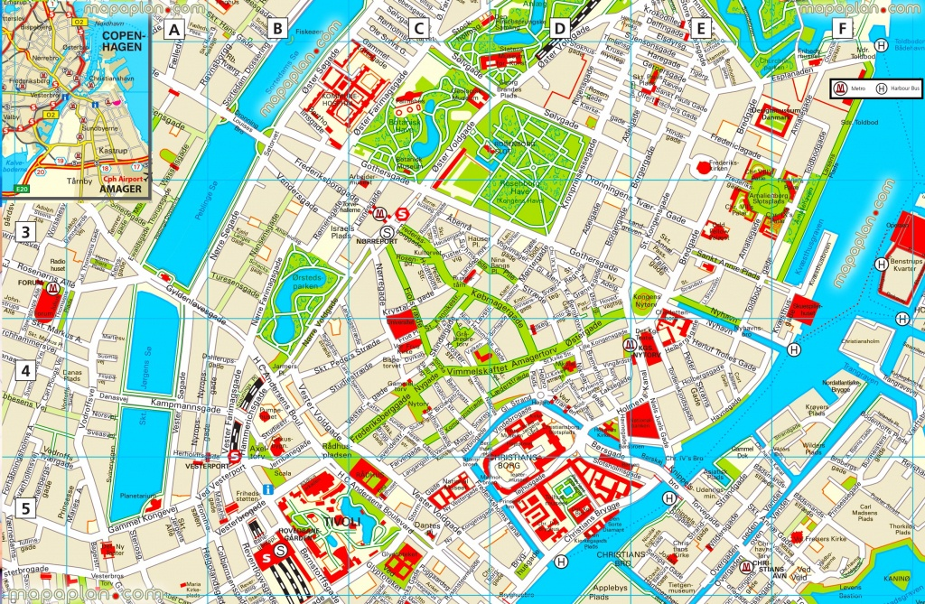 Copenhagen Maps - Top Tourist Attractions - Free, Printable City - Printable Street Map Of Bruges