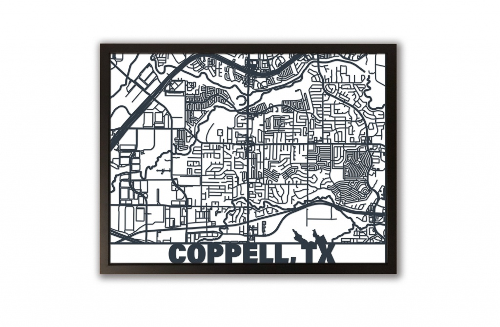 Coppell Texas Map Framed Art Laser Cut Large Wall Art | Etsy - Texas Map Framed Art