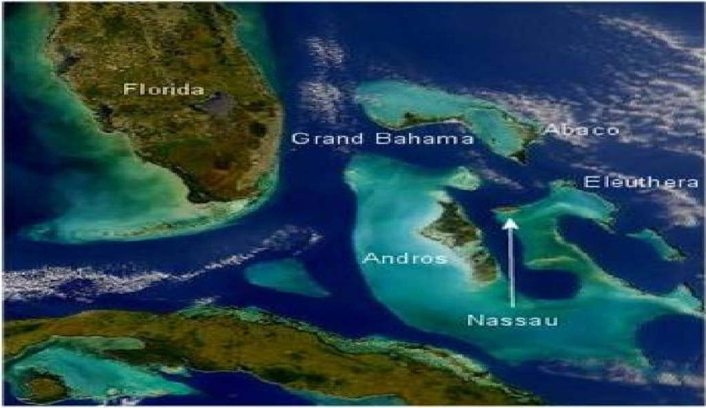 Coral Reefs In The Bahamas   Map Of The Bahamas Showing Florida And - Coral Reefs In Florida Map