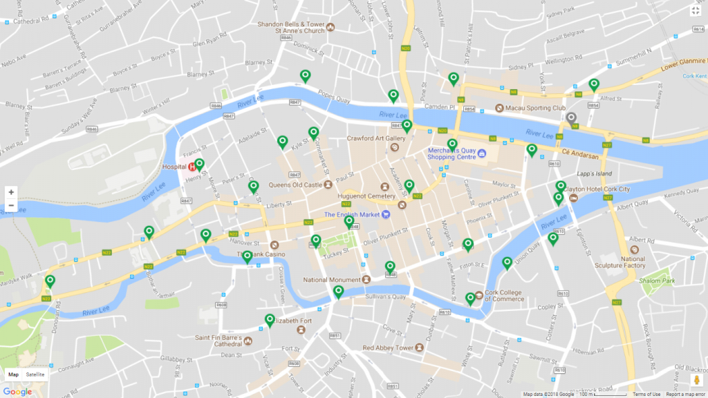 Cork Travel Information | Transportandmobilityforum - Cork City Map Printable