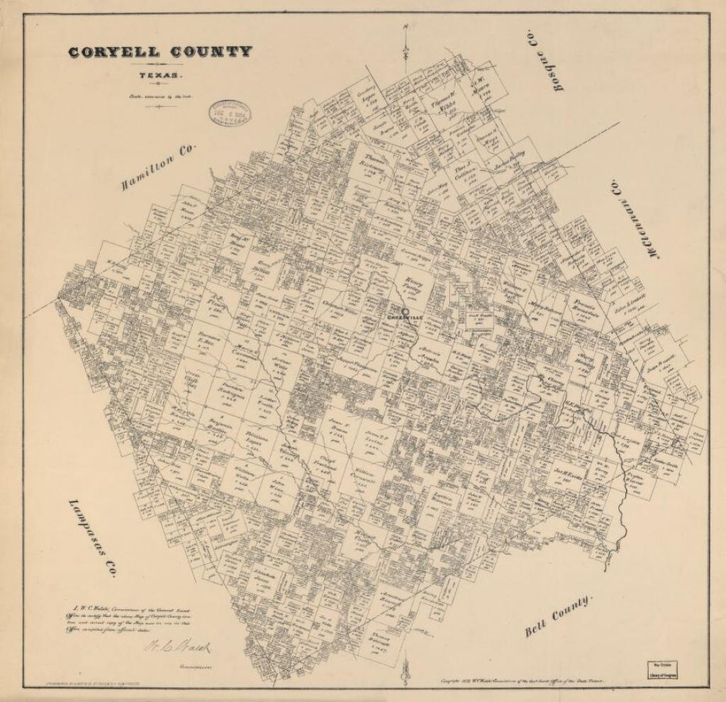 Coryell County, Texas.   Library Of Congress - Coryell County Texas Map