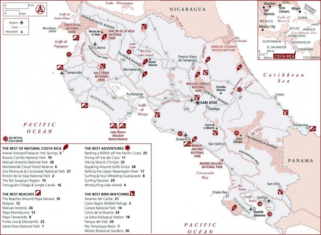 Costa Rica Maps | Printable Maps Of Costa Rica For Download - Printable Map Of Costa Rica