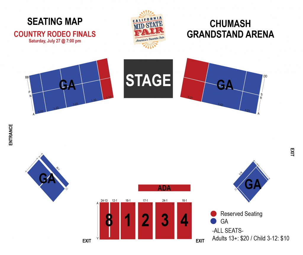 Country Rodeo Finals   Ticketswest - Map Of California Mid State Fair