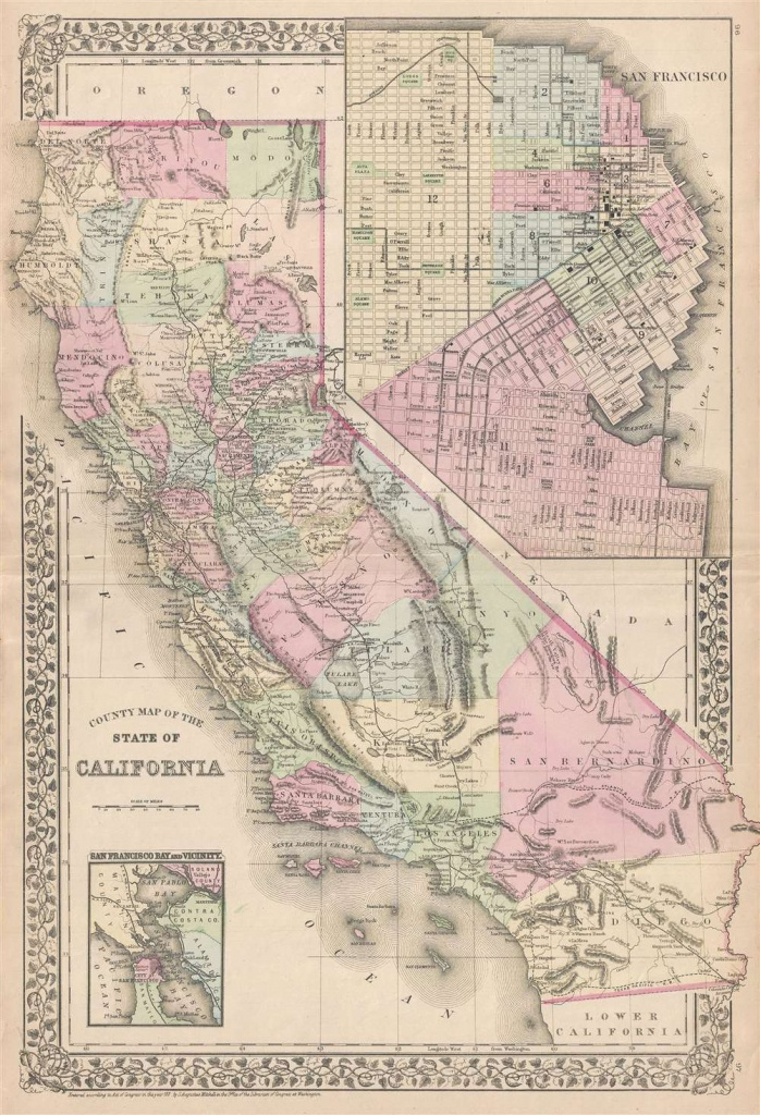 County Map Of The State Of California.: Geographicus Rare Antique Maps - California Maps For Sale