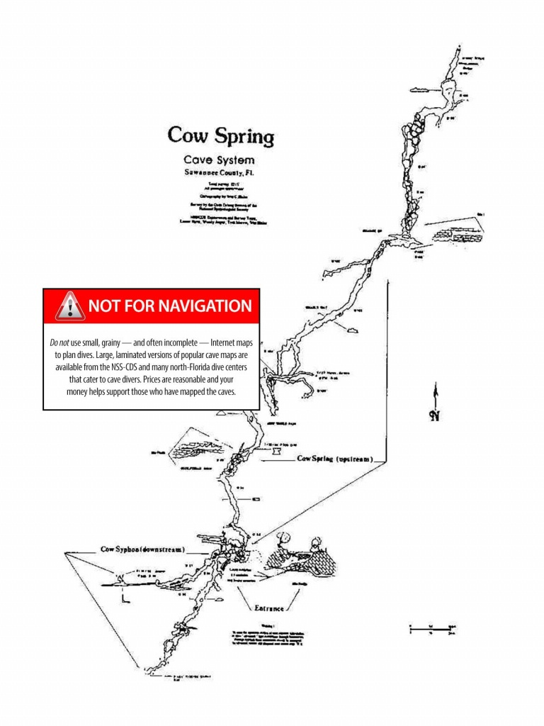 Cow Spring - The Cave Diving Website - Florida Cave Diving Map