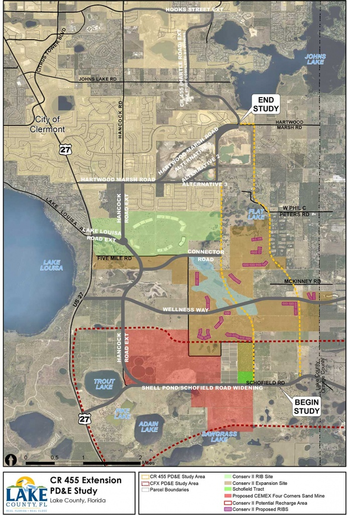 Cr 455 Extension Pd&e Study Study Overview - Road Map Of Lake County Florida