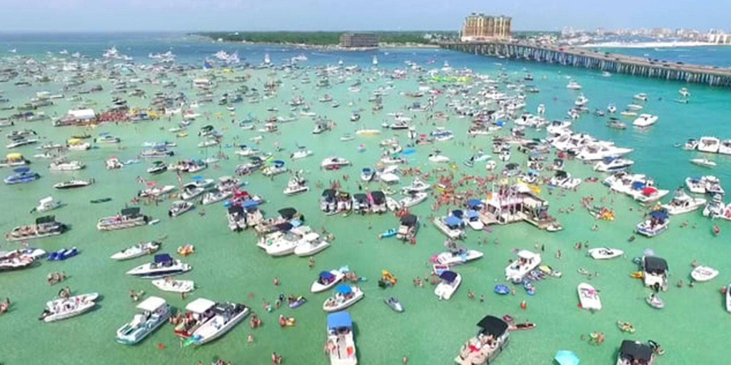 Crab Island In Destin Florida, Known For Where The Locals And - Crab Island Destin Florida Map