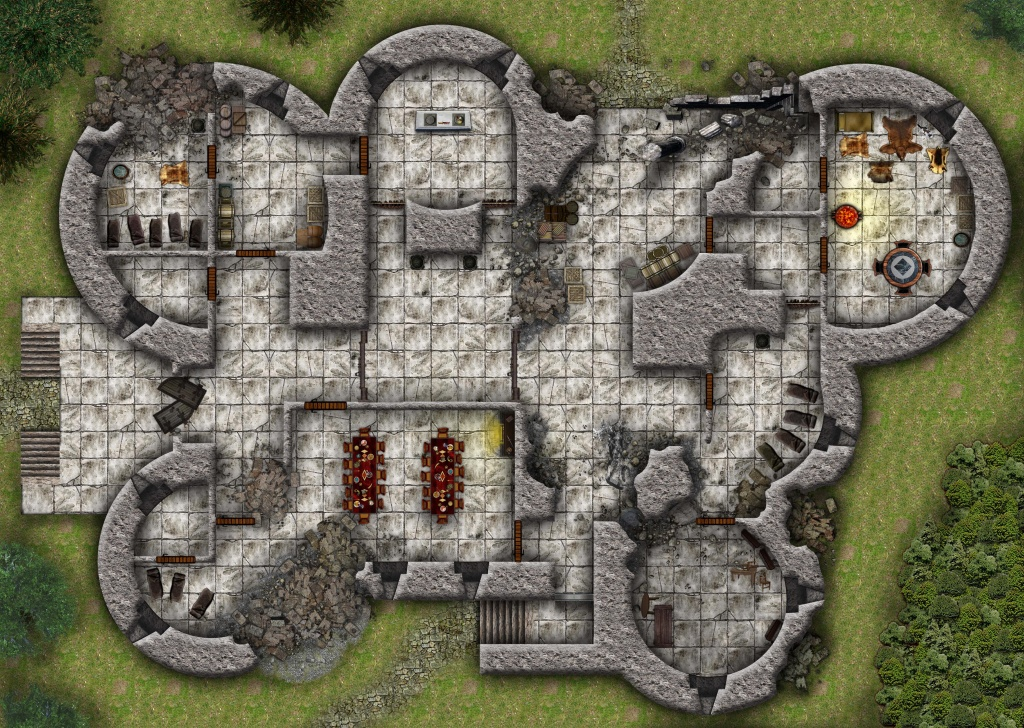 Cragmaw Castle From Lost Mine Of Phandelver Dnd 5 Starter Set - Lost Mine Of Phandelver Printable Maps
