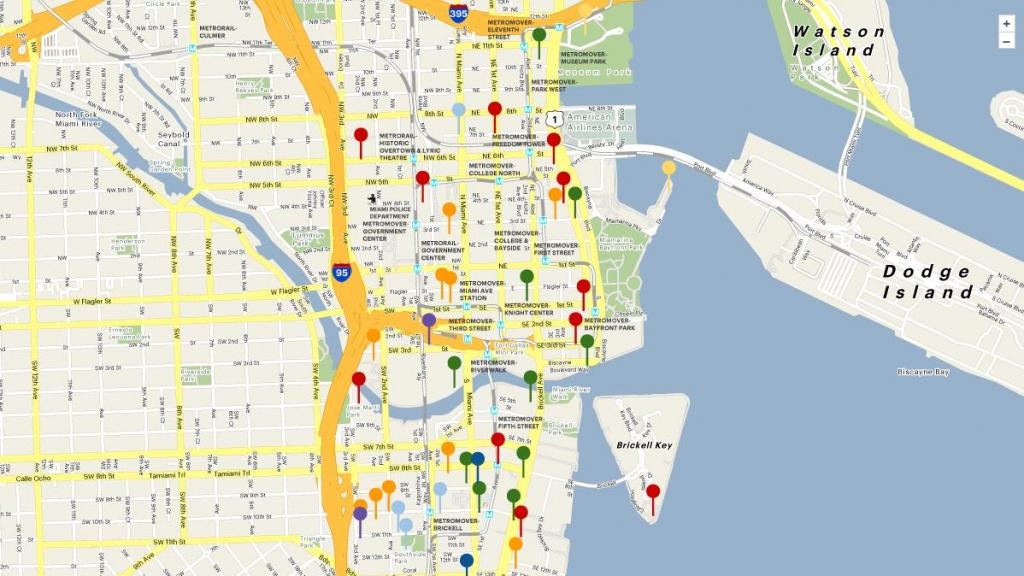 Crane Watch Miami Brickell - South Florida Business Journal - Street Map Of Downtown Miami Florida