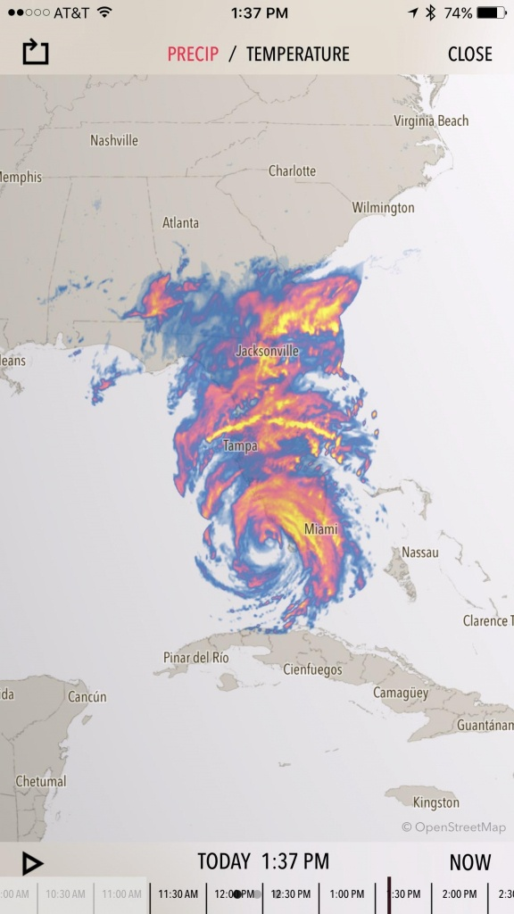 Crazy Weather Map. #irma Has Consumed Florida : Tropicalweather - Destin Florida Weather Map