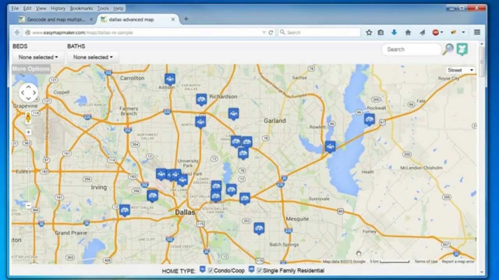Create A Map: Easily Map Multiple Locations From Excel Data - Google Maps Dallas Texas