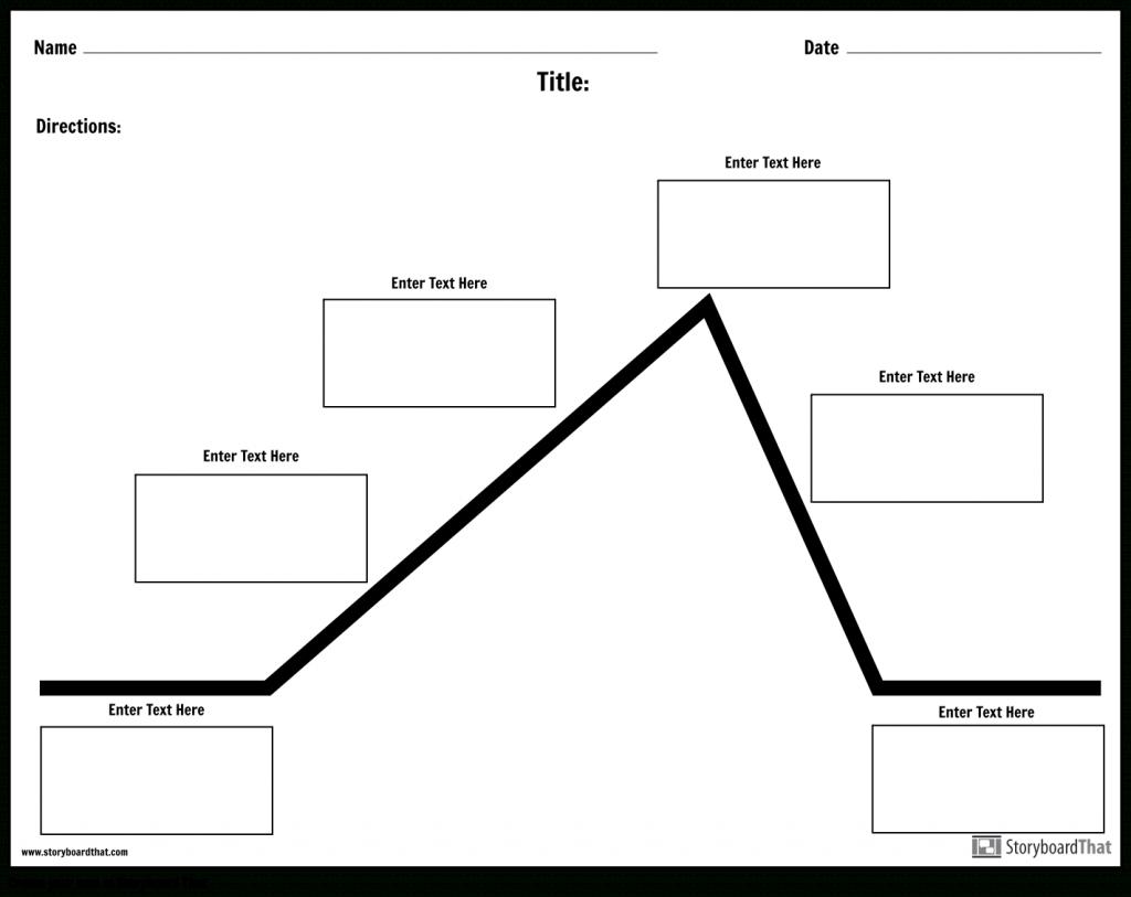 Create A Plot Diagram Worksheet   Plot Diagram Templates - Plot Map Printable