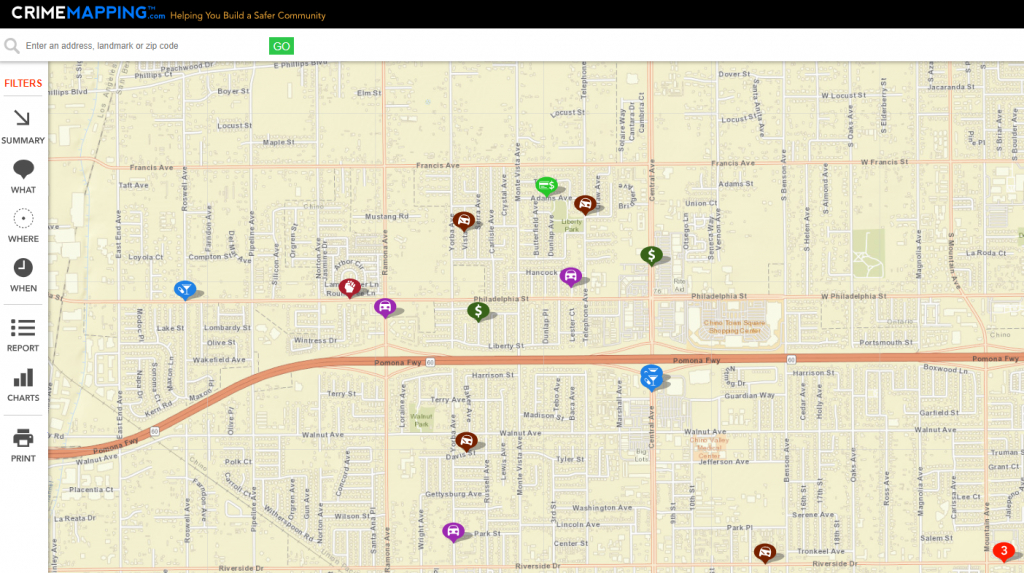 Crime Statistics - City Of Chino - Megan's Law California Map