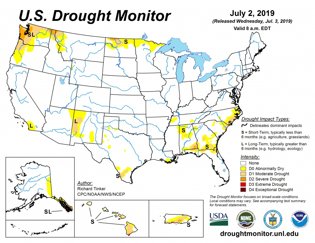 Current Map | United States Drought Monitor - Florida Soil Types Map