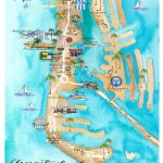 Custom Art Project : : Clearwater Beach Map — Lisa Gilmore Design   Clearwater Beach Florida Map Of Hotels