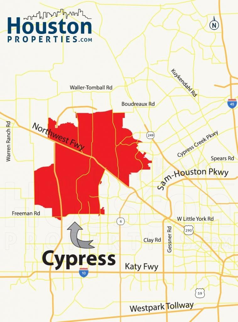 Cypress Tx Map | Great Maps Of Houston | Houston Neighborhoods, Real - Katy Texas Map