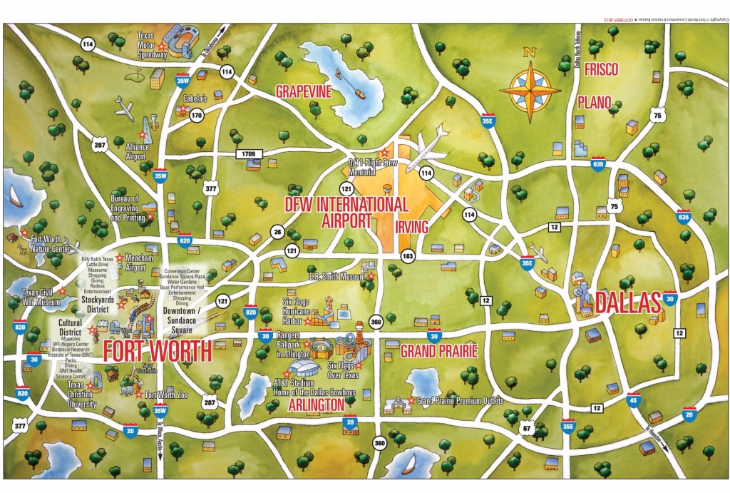 Dallas And Fort Worth Tourist Map - Printable Map Of Dallas Fort Worth Metroplex