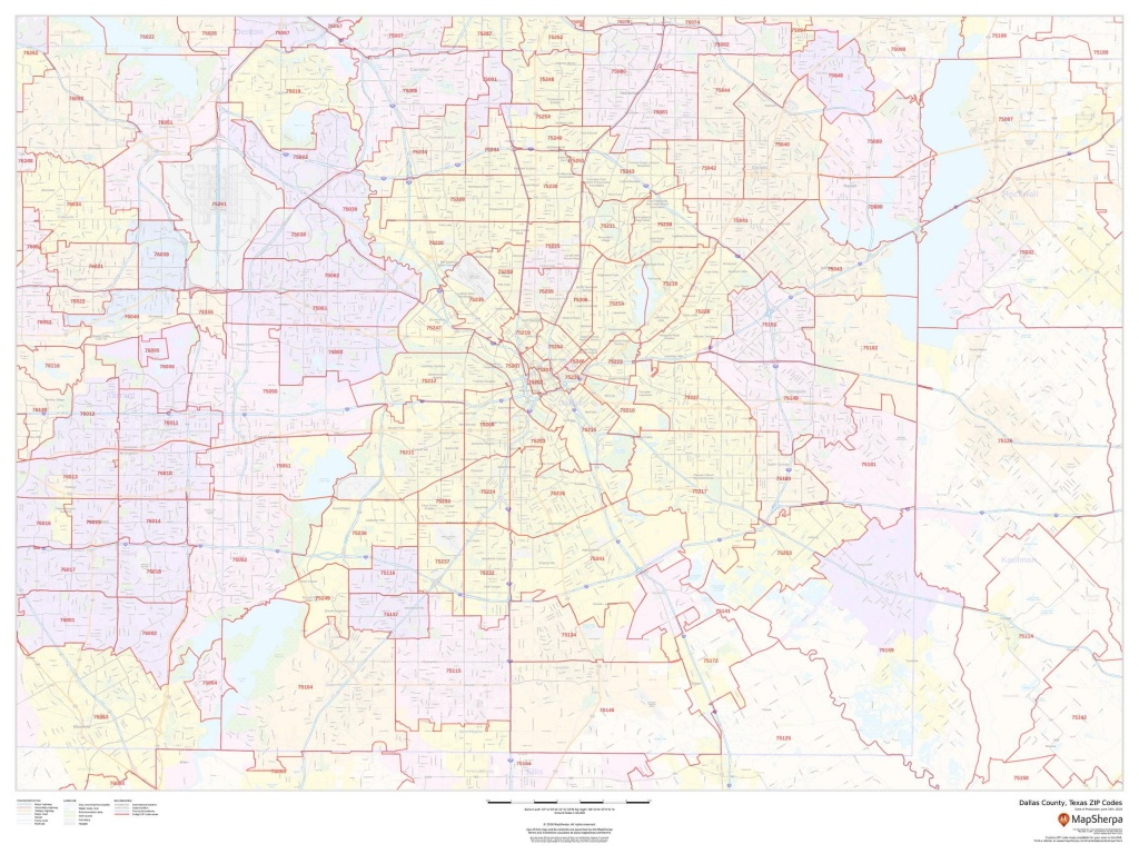 Dallas County Map, Texas Zip Codes - Texas Zip Code Map