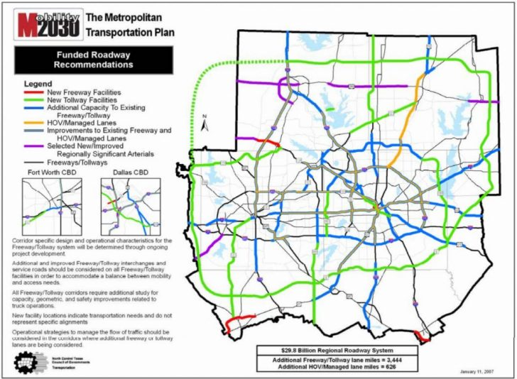Texas Toll Roads Map