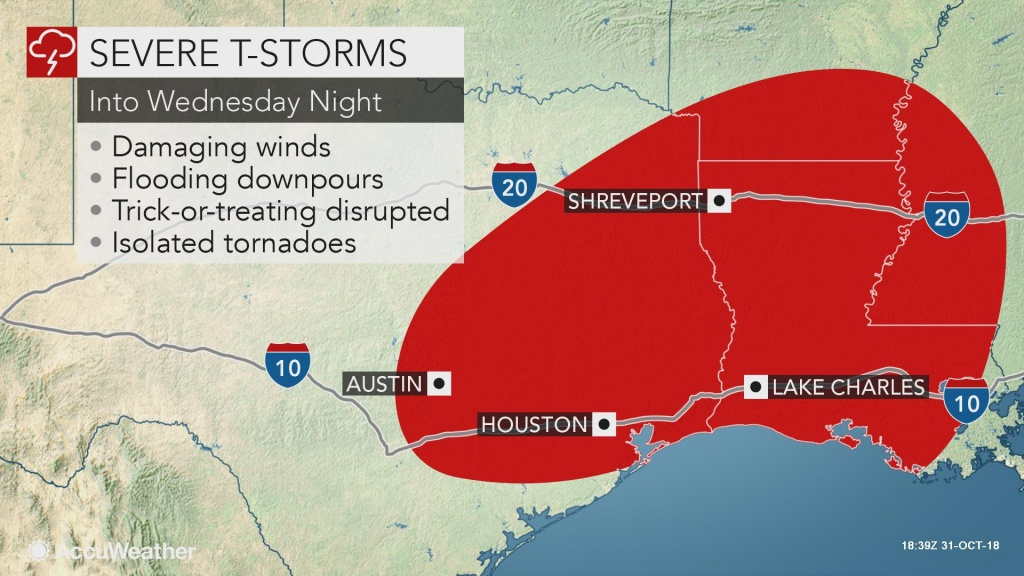 Dangerous Storms To Target Texas, Louisiana As Flooding Eyes Ohio Valley - Texas Weather Map Today