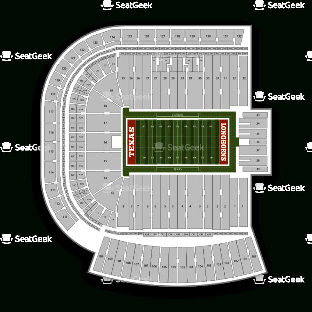 Darrell K Royal - Texas Memorial Stadium Seating Chart & Map   Seatgeek - Texas Longhorn Stadium Seating Map