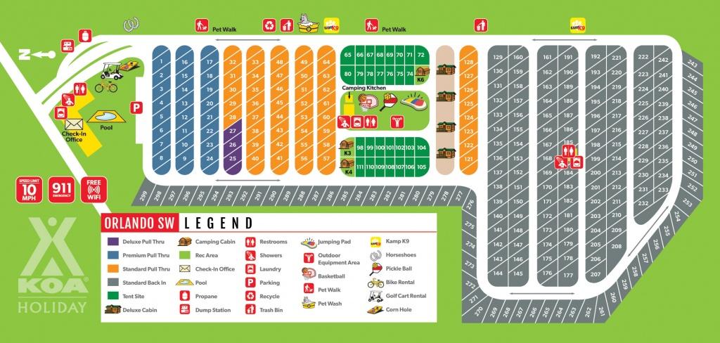 Davenport, Florida Campground | Orlando Southwest Koa - Map Of Koa Campgrounds In Florida