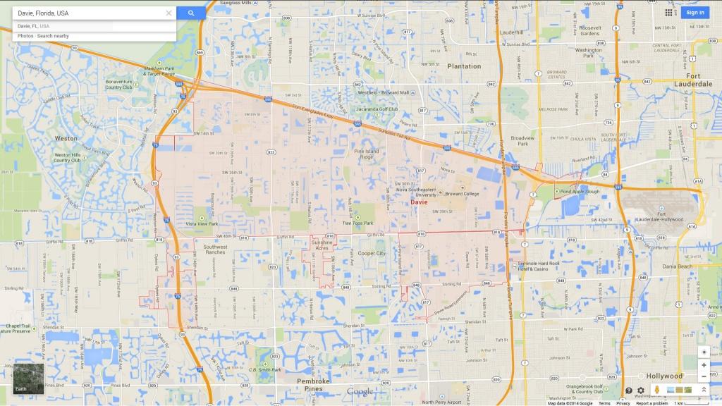 Davie, Florida Map - Google Maps Weston Florida