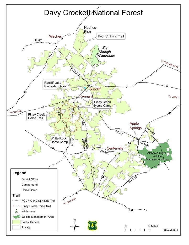 Davy Crockett National Forest - Maplets - Texas National Forest Hunting Maps