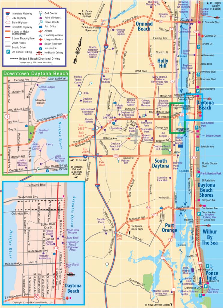 Daytona Beach Area Attractions Map | Things To Do In Daytona - Smyrna Beach Florida Map