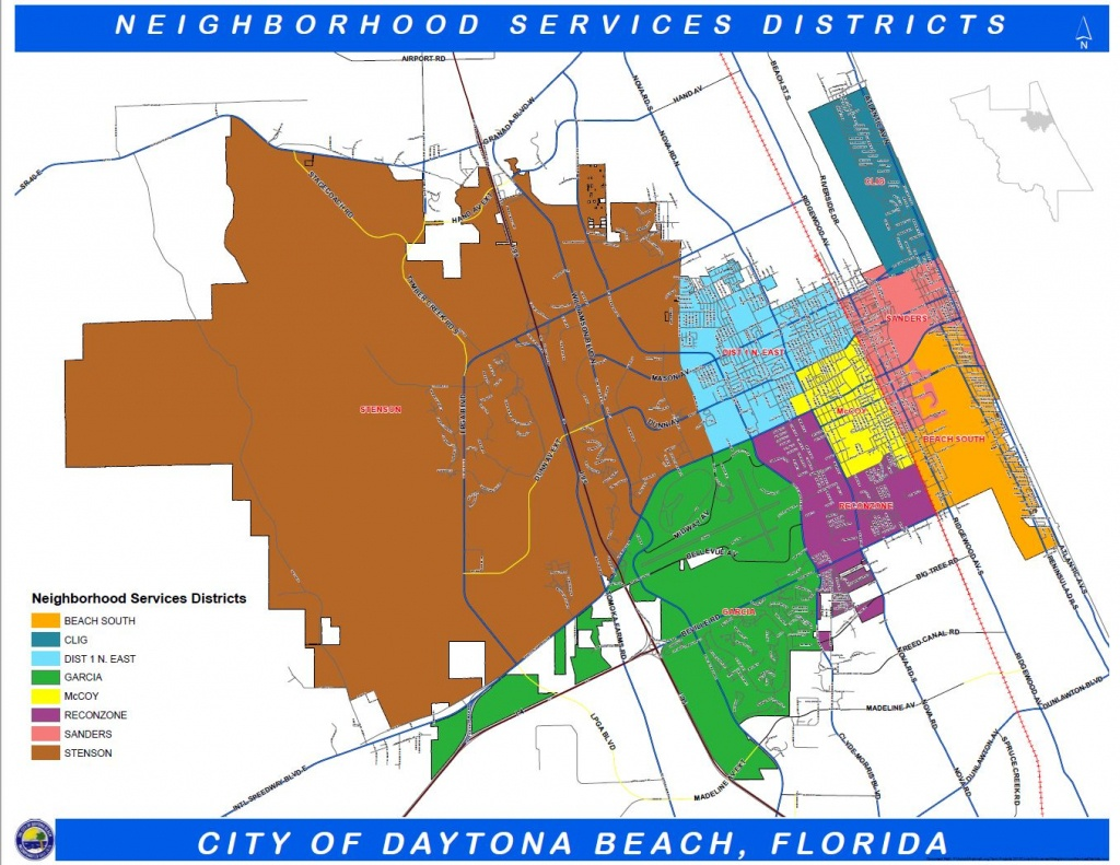 Daytona Beach, Fl - Official Website - Geographic Information - Map Of Daytona Beach Florida