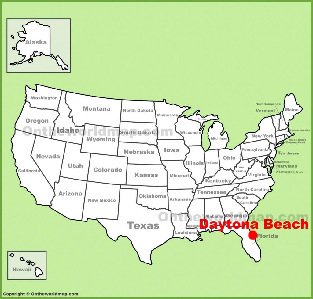 Daytona Beach Location On The U.s. Map - Where Is Daytona Beach Florida On The Map