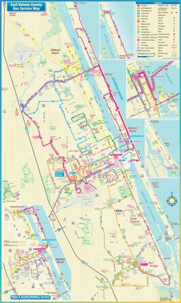 Daytona Beach Route Map   Travel   Daytona Beach Florida, Daytona - Map Of Daytona Beach Florida Area