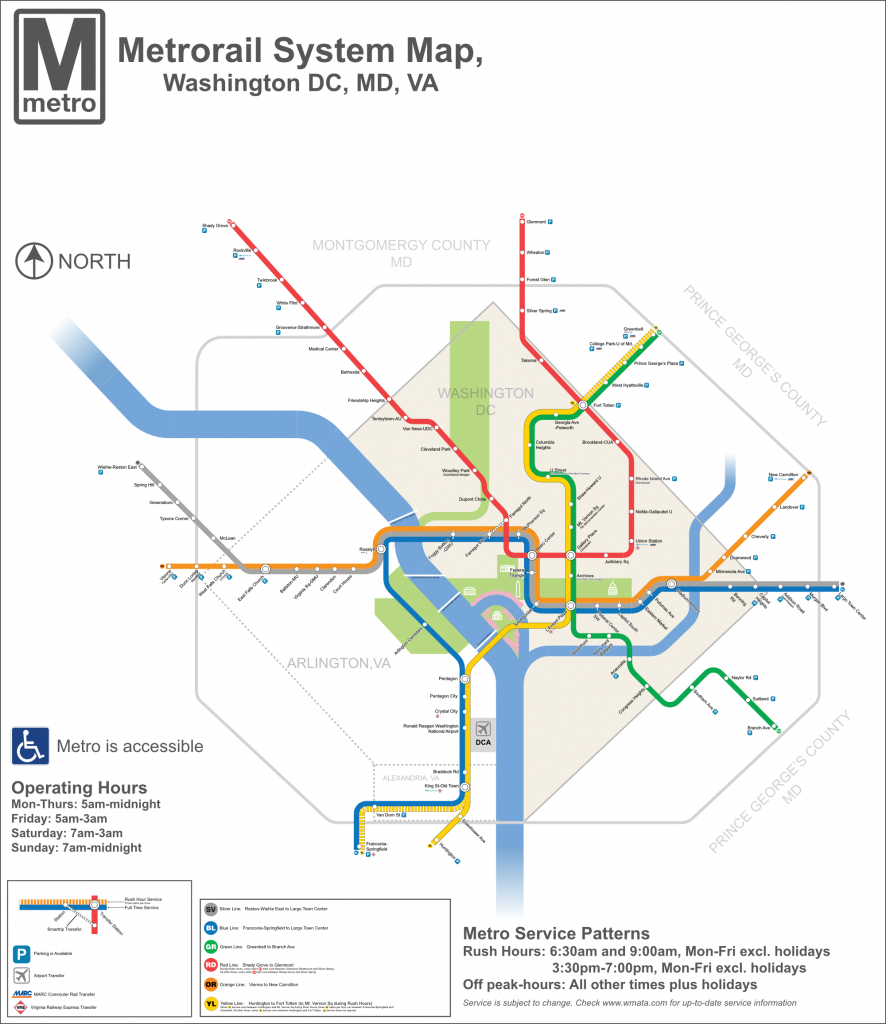 Dc Metro Map - Dc Transit Guide - Printable Dc Metro Map