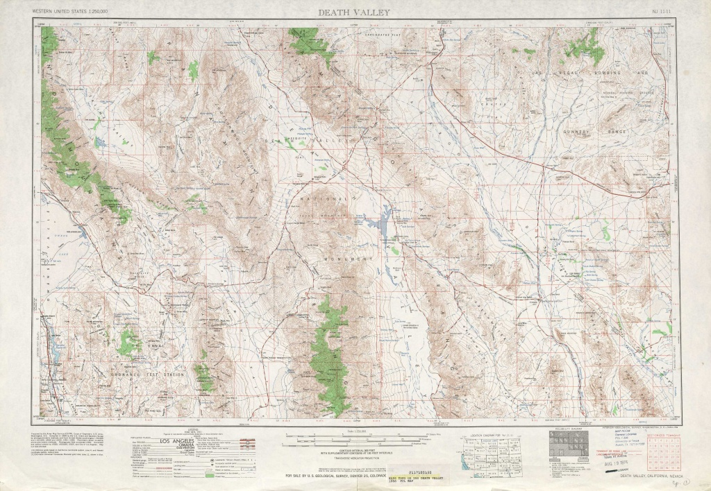 Death Valley Topographic Maps, Ca, Nv - Usgs Topo Quad 36116A1 At 1 - Usgs Topo Maps California