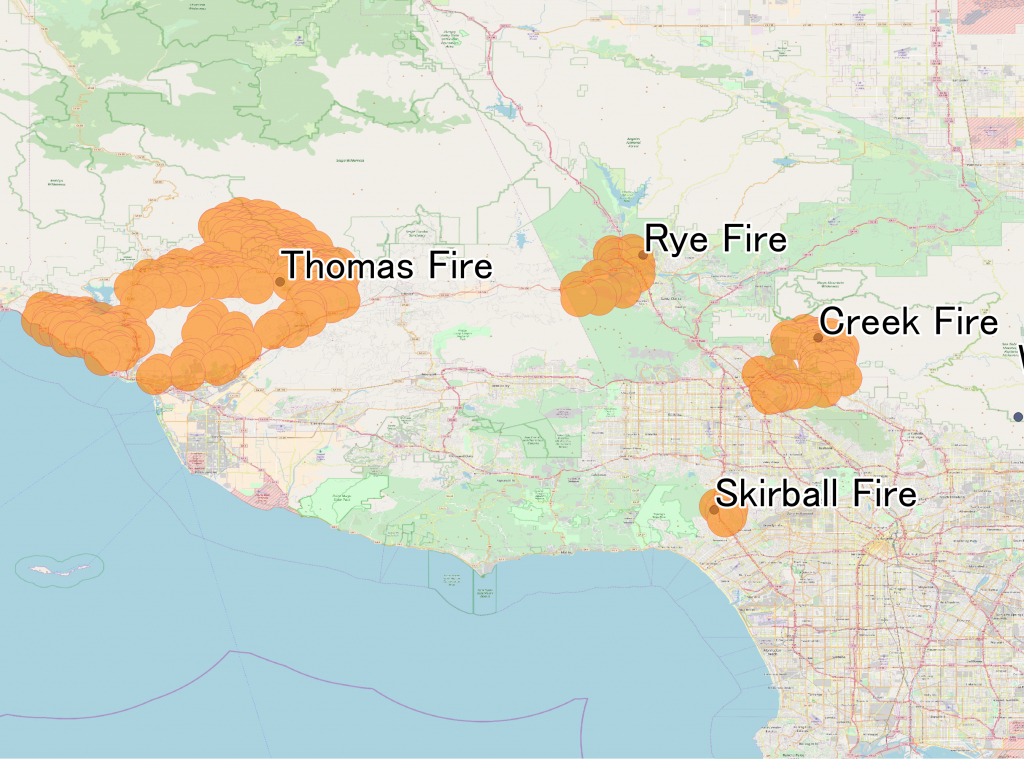 December 2017 Southern California Wildfires - Wikipedia - Fire Map California 2017
